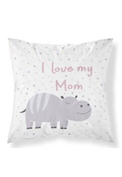 Fata perna, I Iove my mom, roz, 40x40 cm