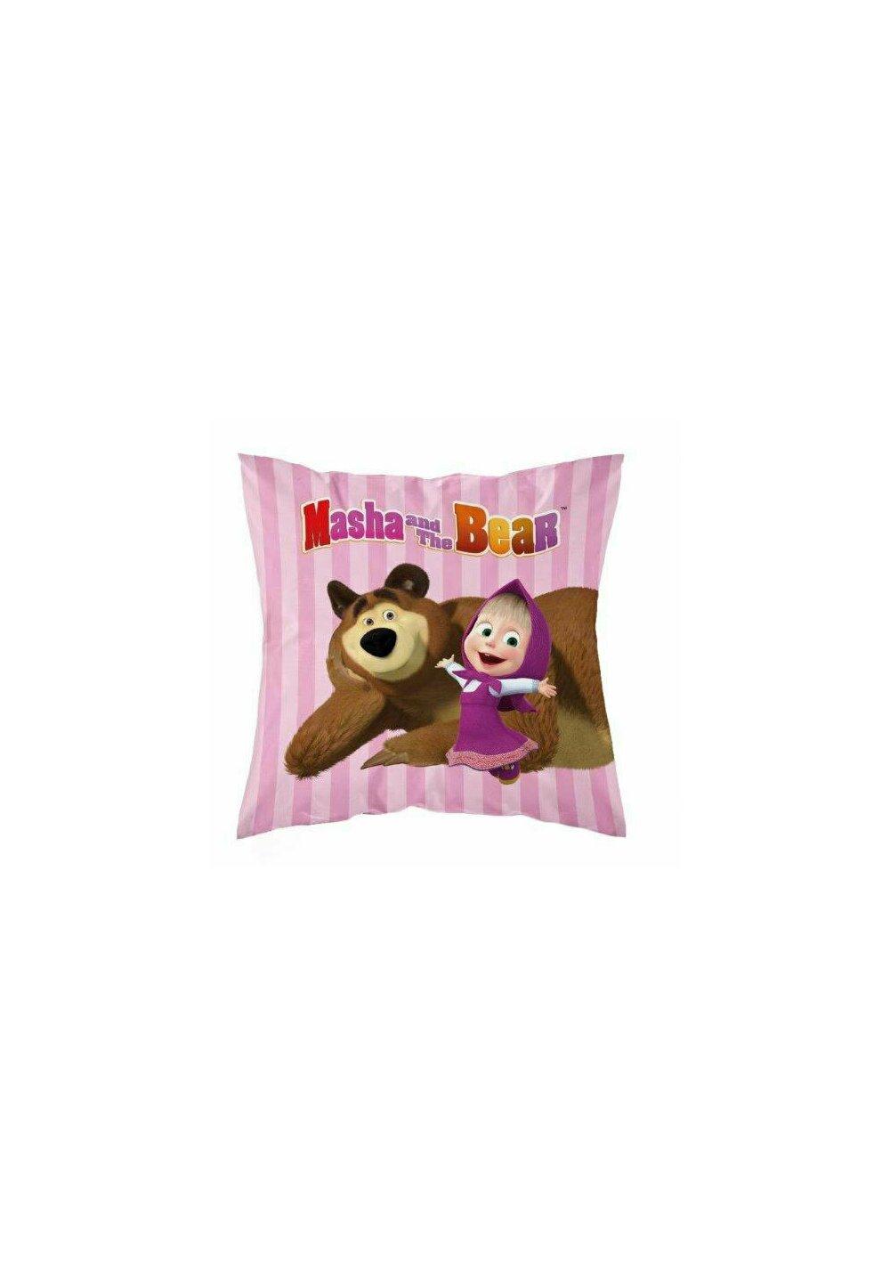 Fata perna, Masha si Ursul, roz cu dungi, 40x40 cm imagine