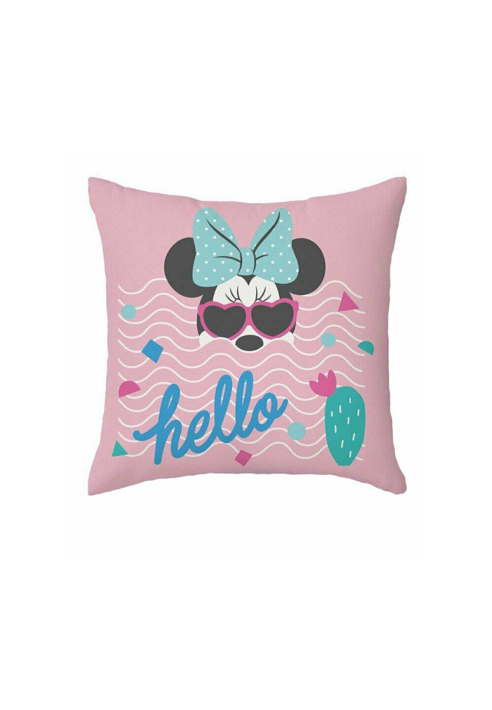Fata perna, Minnie Mouse, Hello, roz, 40x40 cm imagine