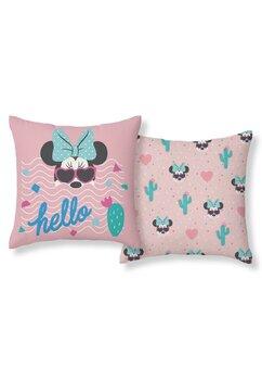 Fata perna, Minnie Mouse, Hello, roz, 40x40 cm