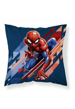 Fata perna, Spider Man, albastru cu rosu, 40x40 cm