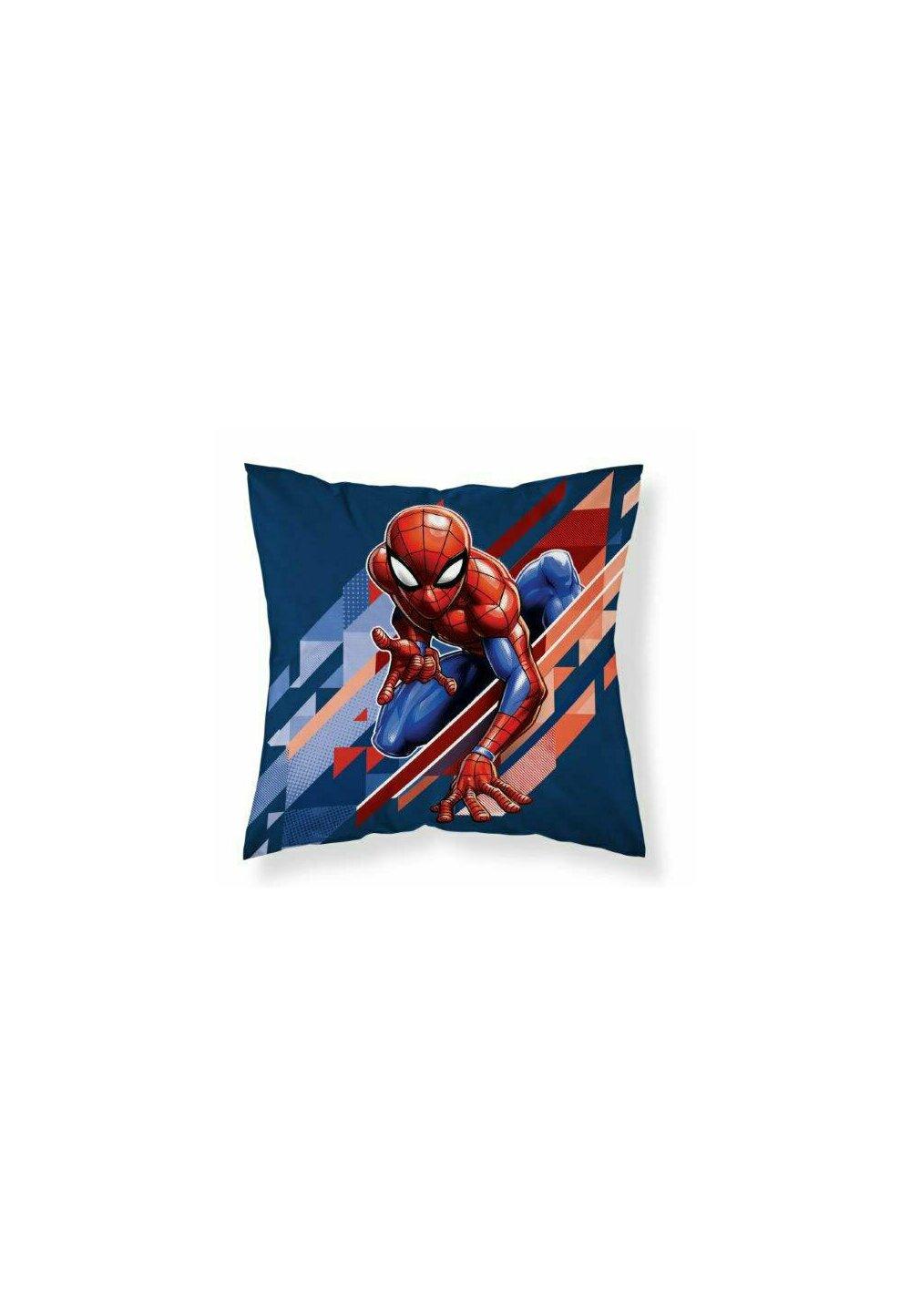 Fata perna, Spider Man, albastru cu rosu, 40x40 cm imagine