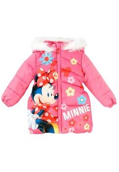 Geaca de iarna, Minnie, cu floricele roz