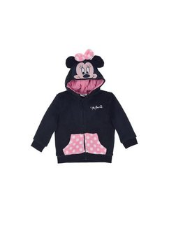 Geaca fleece, Minnie cu fundita roz, bluemarin