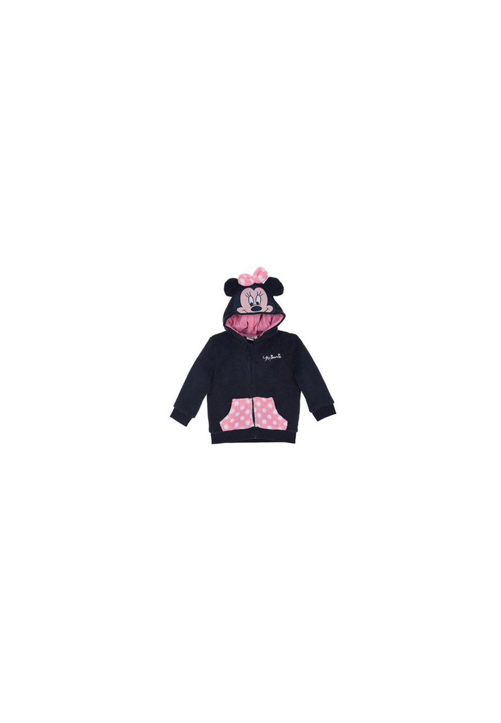 Geaca fleece, Minnie cu fundita roz, bluemarin imagine