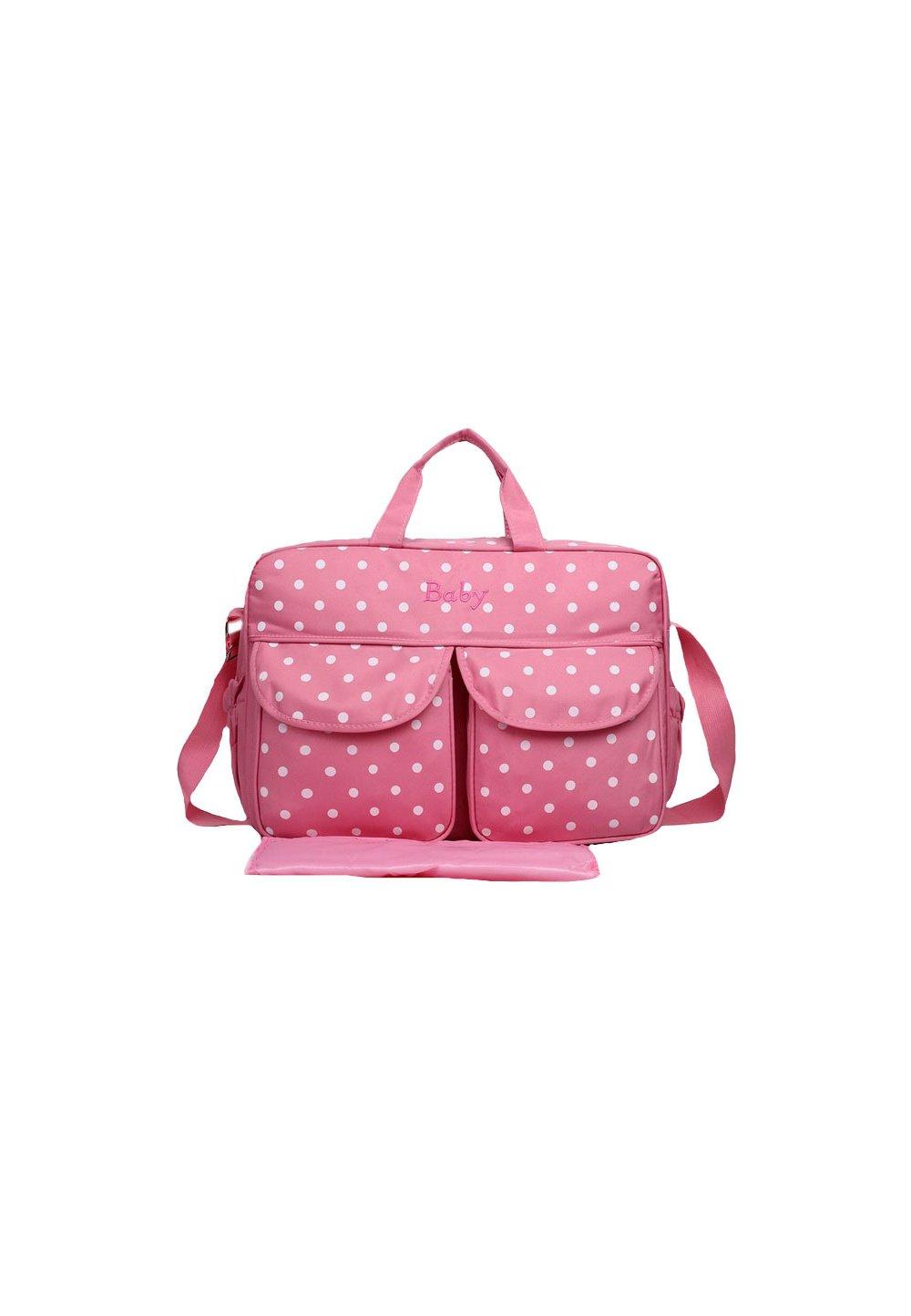 Geanta mamici, Baby, roz cu buline imagine