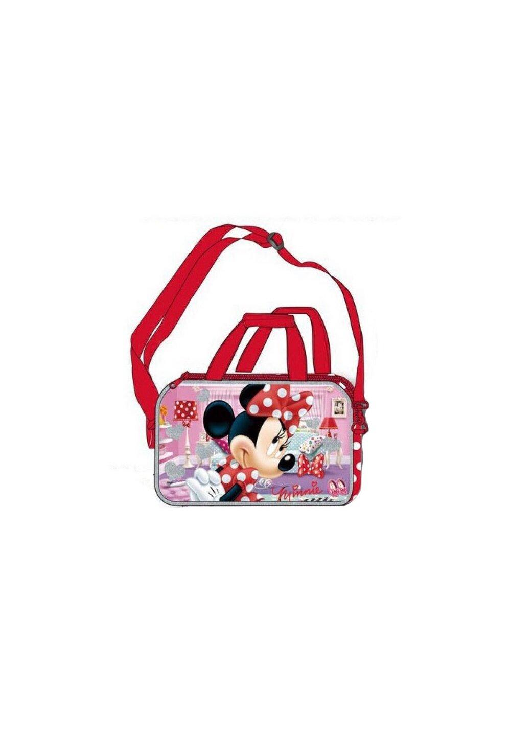 Geanta sport, Minnie Mouse, rosie cu buline albe imagine