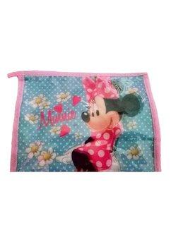 Gentuta portfard, Minnie Mouse, turcoaz cu roz