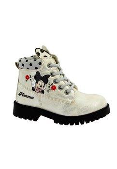 Ghete Minnie, gri cu floricele