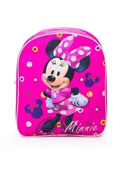Ghiozdan Minnie Mouse, roz cu bulinute, 30 x 10 x 26 cm