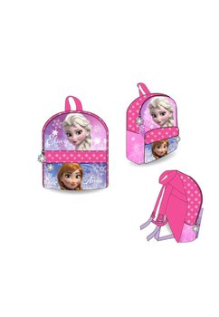 Ghiozdan roz cu fulgi de nea, Anna si Elsa