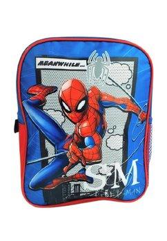 Ghiozdan Spider Man, S-M, albastru, 32x26x10cm