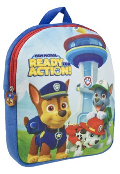 Ghiozdan velur, Paw Patrol, ready for action, 30x5x25 cm