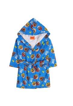 Halat de baie, albastru cu figurine multicolore, Paw