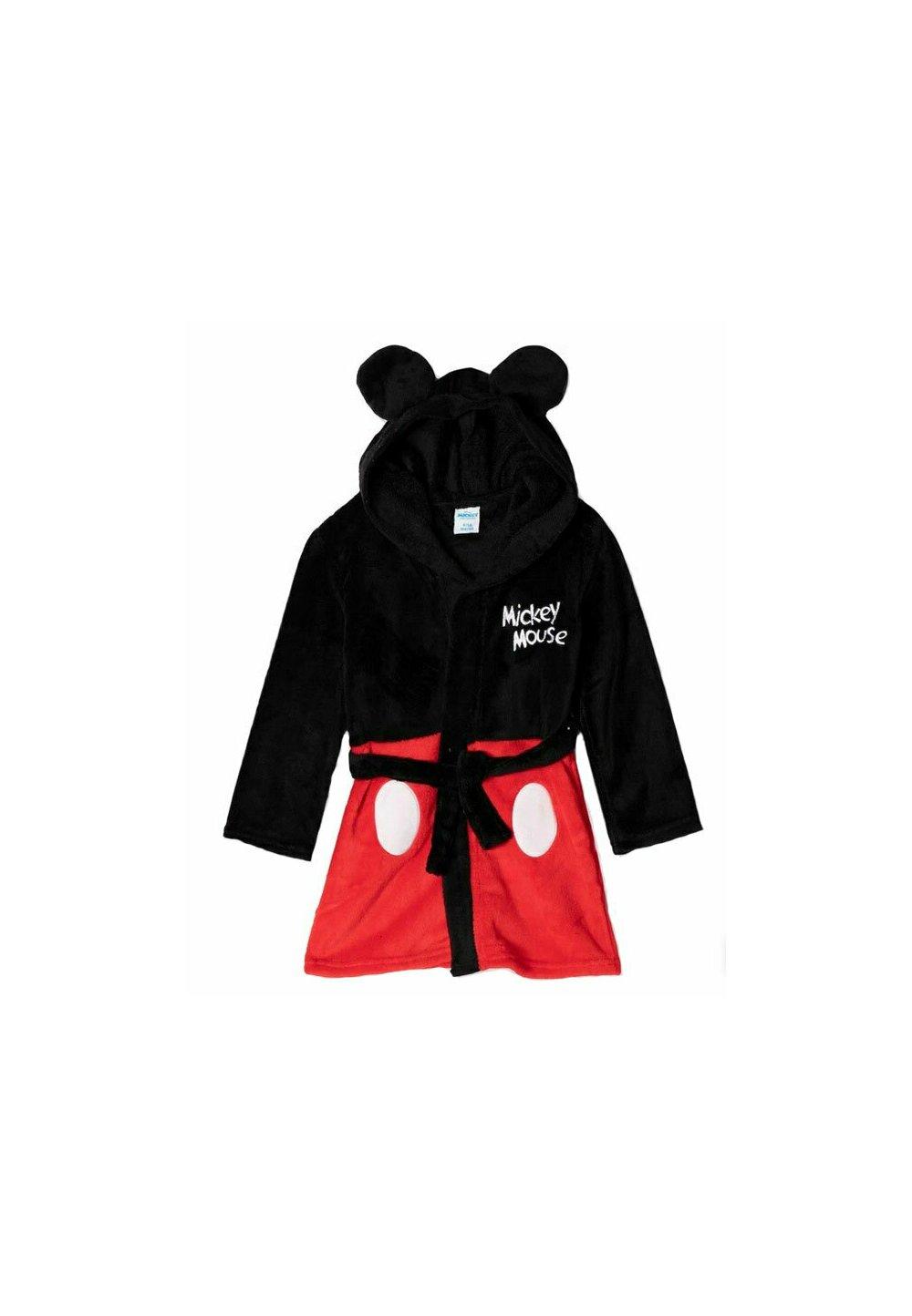 Halat de baie , Mickey Mouse , negru cu rosu imagine