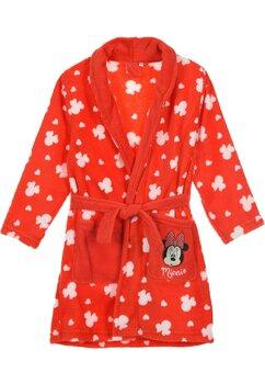 Halat de baie, Minnie Mouse, rosu cu alb