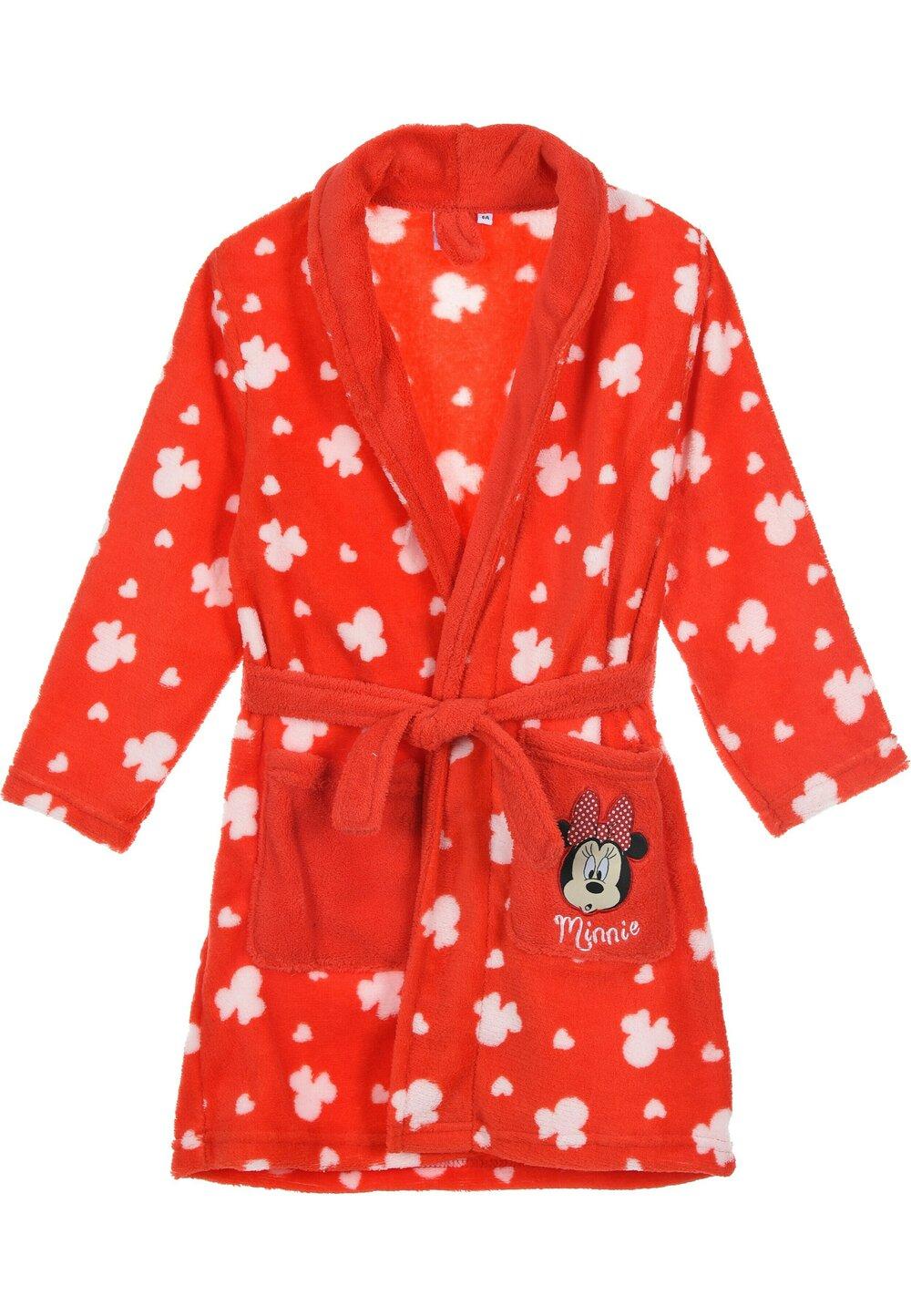 Halat de baie, Minnie Mouse, rosu cu alb imagine