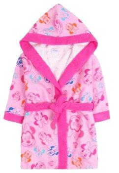 Halat de baie, roz cu figurine multicolore, Minnie