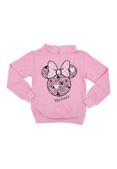 Hanorac cu gluga, Minnie Mouse, roz deschis