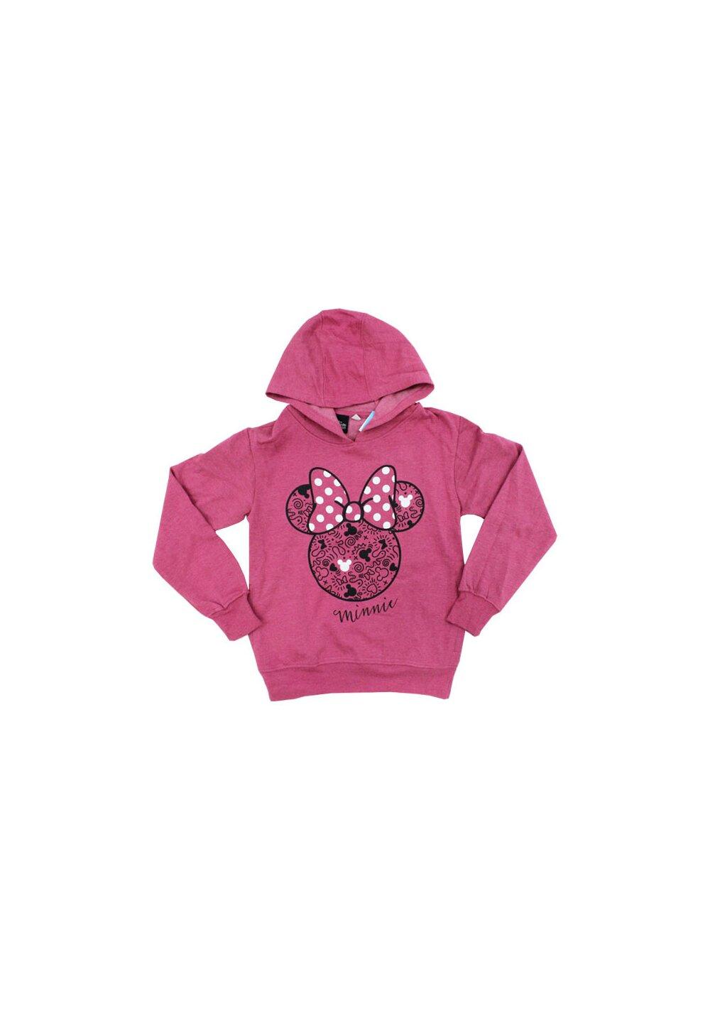 Hanorac cu gluga, Minnie Mouse, roz inchis