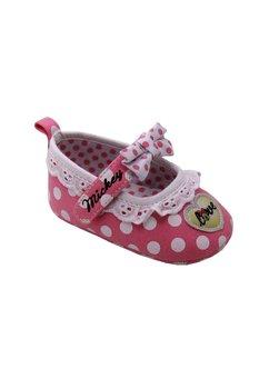 Incaltaminte bebe, roz cu buline albe, Minnie Mouse