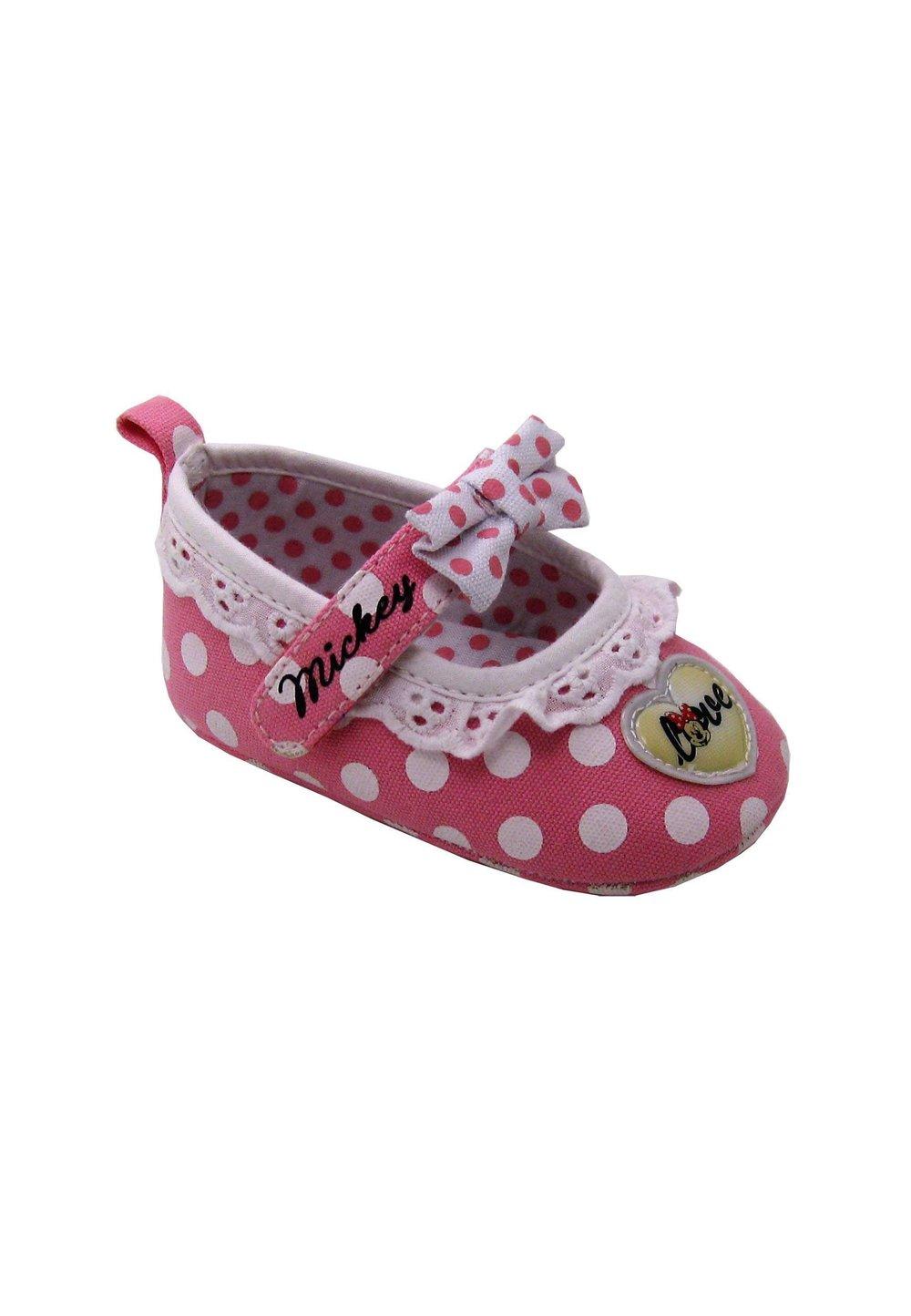 Incaltaminte bebe, roz cu buline albe, Minnie Mouse imagine