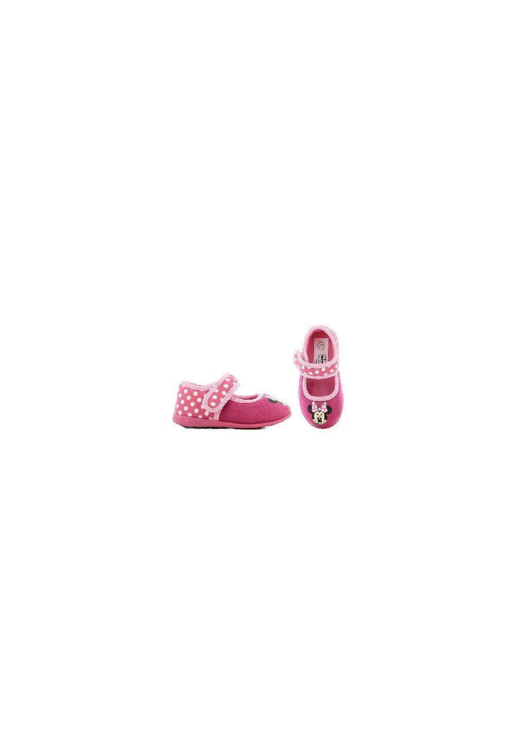 Incaltaminte interior, Minnie Mouse cu fundita roz cu buline imagine