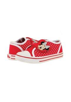 Incaltaminte Minnie Mouse, panza, alb cu rosu
