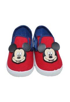 Incaltaminte panza, Mickey Mouse, rosu cu albastru