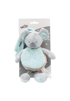 Jucarie de atasament, ursuletul Koala, gri cu turcoaz