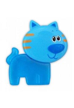 Jucarie dentitie, pisica, albastra