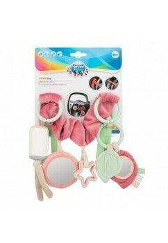 Jucarie pentru carucior spirala, Pastel Friends, roz cu verde