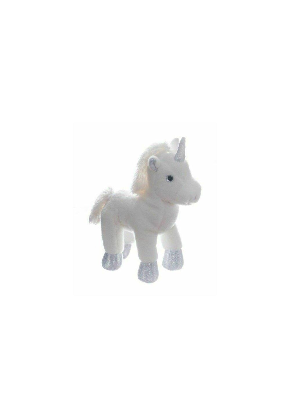 Jucarie plus, Unicorn, alb cu argintiu