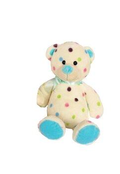 Jucarie plus, ursulet albastru cu buline colorate