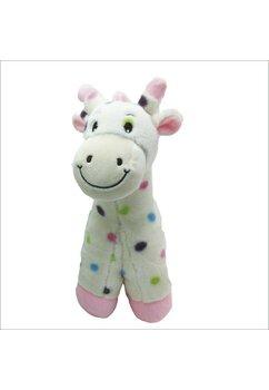 Jucarie plus, Girafa roz cu buline colorate