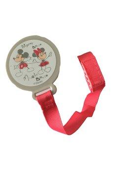 Lant pentru suzeta, gri, Minnie si Mickey