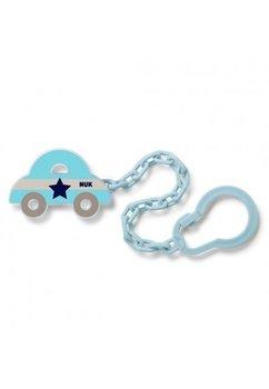 Lant pentru suzeta, masinuta albastra cu stea