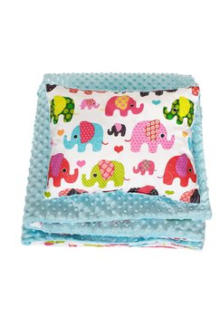 Lenjerie 2 piese, elefant, roz 100x135 cm