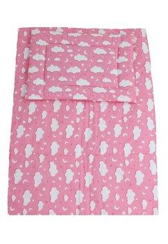 Lenjerie 3 piese, norisori si stelute, roz, 120x60cm