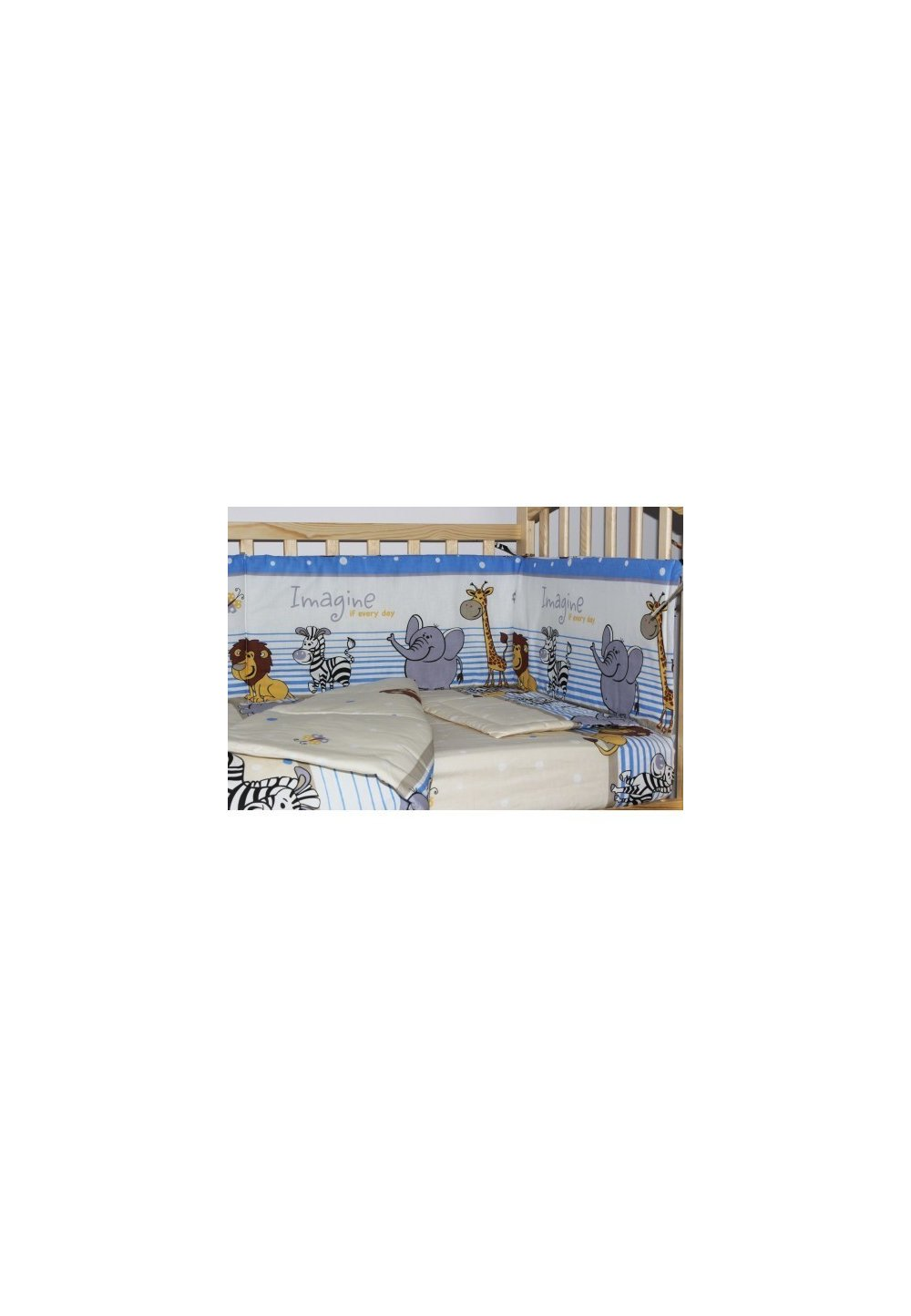 Lenjerie 4 piese, safari blue, 120x60 cm imagine
