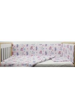 Lenjerie 4 piese, Unicornul roz, 120x60cm