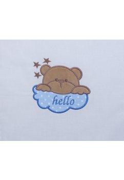 Lenjerie 5 piese, Hello, albastra, 120x60cm