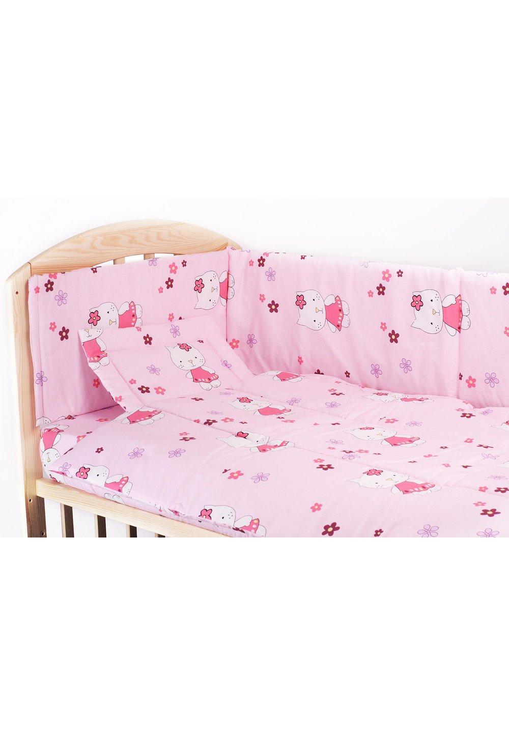 Lenjerie 5 piese kitty roz, 120 x 60 cm imagine