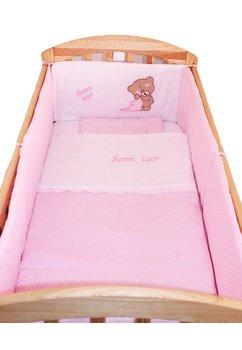Lenjerie 5 piese, Little Bear, roz, 120x60cm
