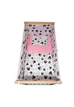 Lenjerie 5 piese, Prichindel, Minnie, roz, 140x70cm