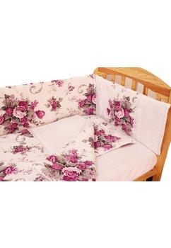 Lenjerie 5 piese, purple flowers, 120x60cm