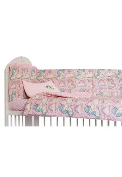 Lenjerie 5 piese, Unicorn roz, 120 x 60 cm