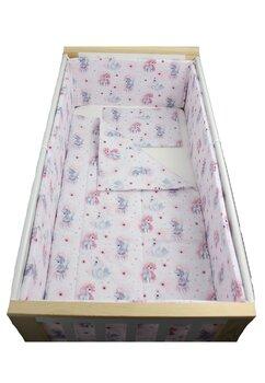Lenjerie 5 piese, Unicornul roz, 120x60cm