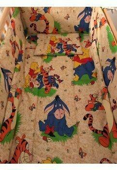 Lenjerie 5 piese, Winnie si Aiurel, crem, 140 x 70 cm