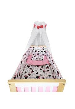 Lenjerie 6 piese, Prichindel, Minnie,roz, 120x60cm